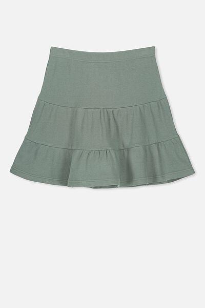 Knit Peplem Skirt, MISTY MOSS