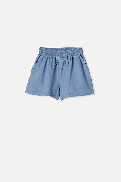 Chelsea Woven Short, MID WASH BLUE