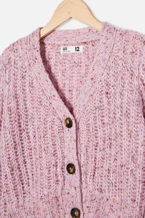Martha Multi Knit Cardi, PALE VIOLET FLECK