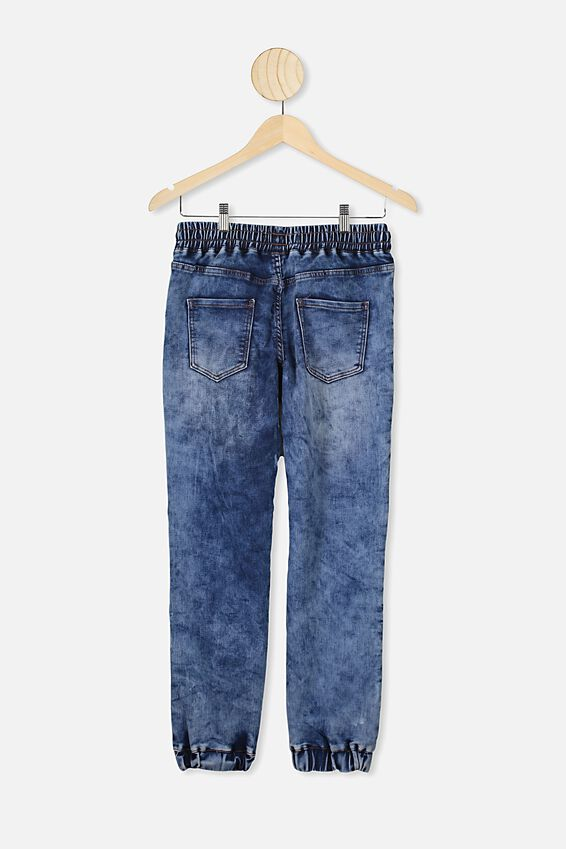 Slouch Denim Pant, NEW OCEAN BLUE ACID WASH