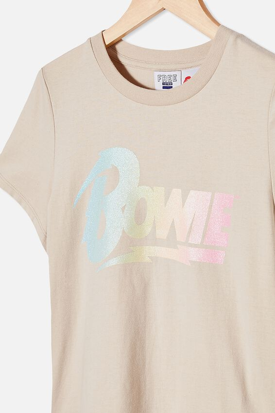 Girls License Classic Ss Tee, LCN PER RAINY DAY/BOWIE GRADIENT