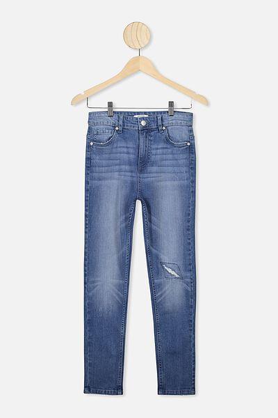 Slim Leg Jean, MID DENIM