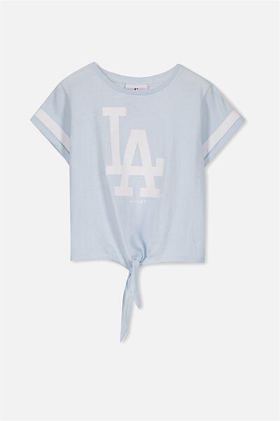 License Tie Front Tee, YOLO BLUE/LA