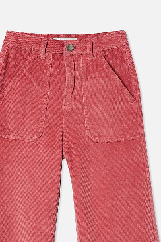 Elka Wide Leg Jean, VERY BERRY CORD