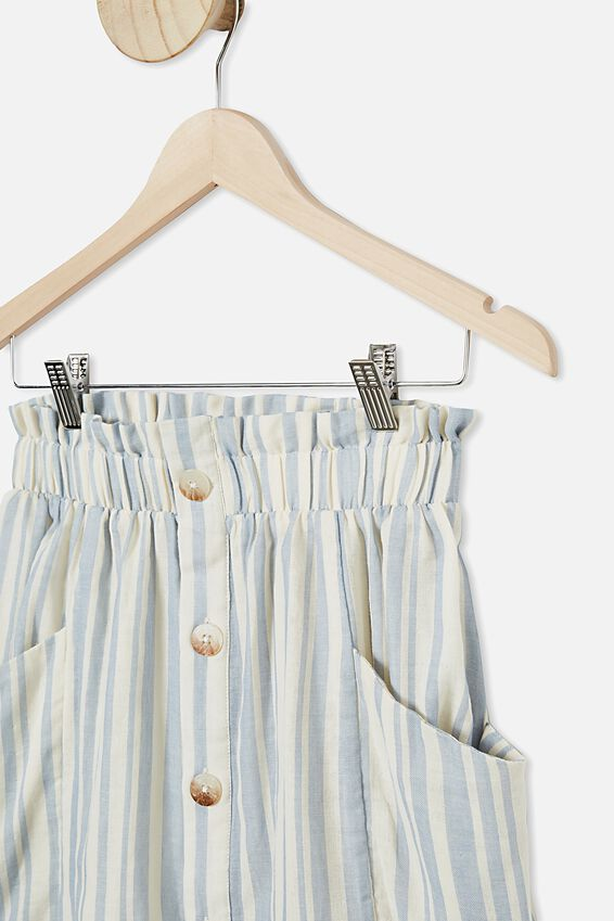 Ava Skirt, DUSTY BLUE/DARK VANILLA STRIPE