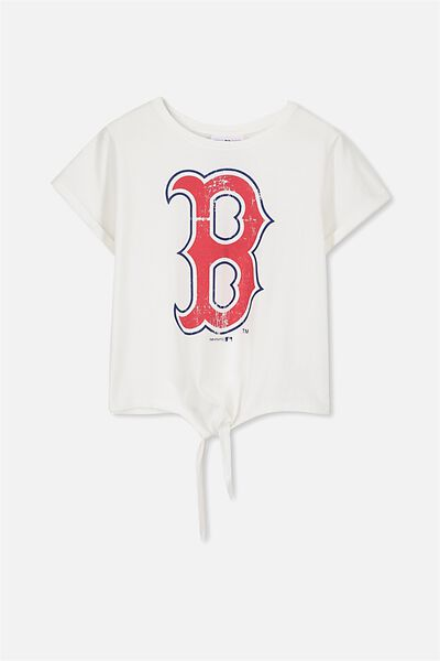 License Tie Front Tee, WHITE/BOSTON RED SOX