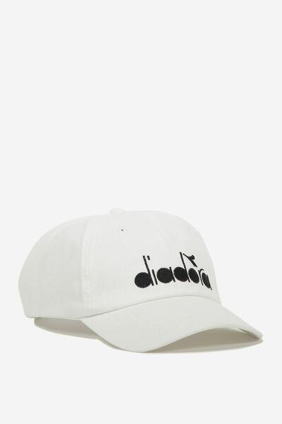 Embroidery Cap, WHITE/DIADORA