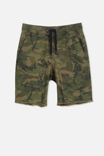Drop Crotch Short, CAMO PRINT