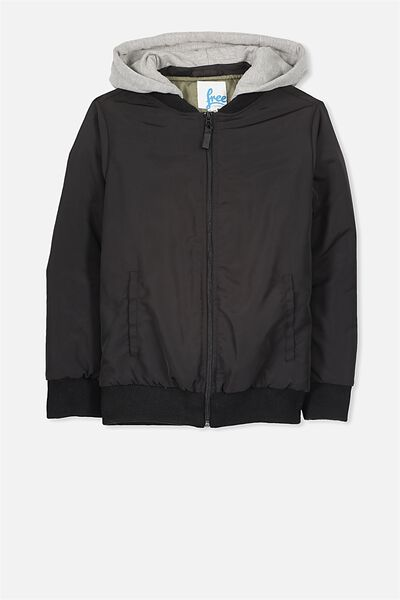 Benji Bomber Jacket, BLACK