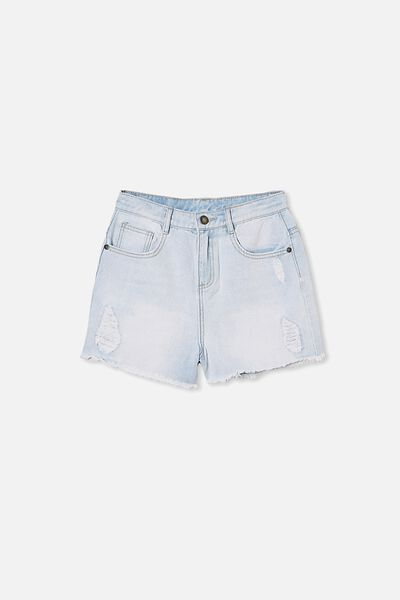 Sully Denim Short, BLEACH WASH/RIPS