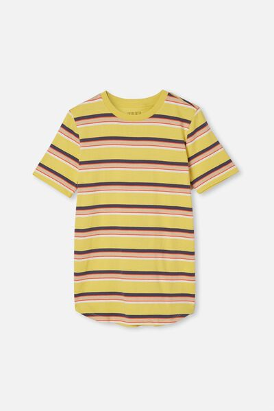 Free Boys Long Line Tee, SUNSHINE/FASHION STRIPE
