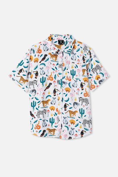 Kip & Co Boys Resort Short Sleeve Shirt, LCN KIP IN THE JUNGLE