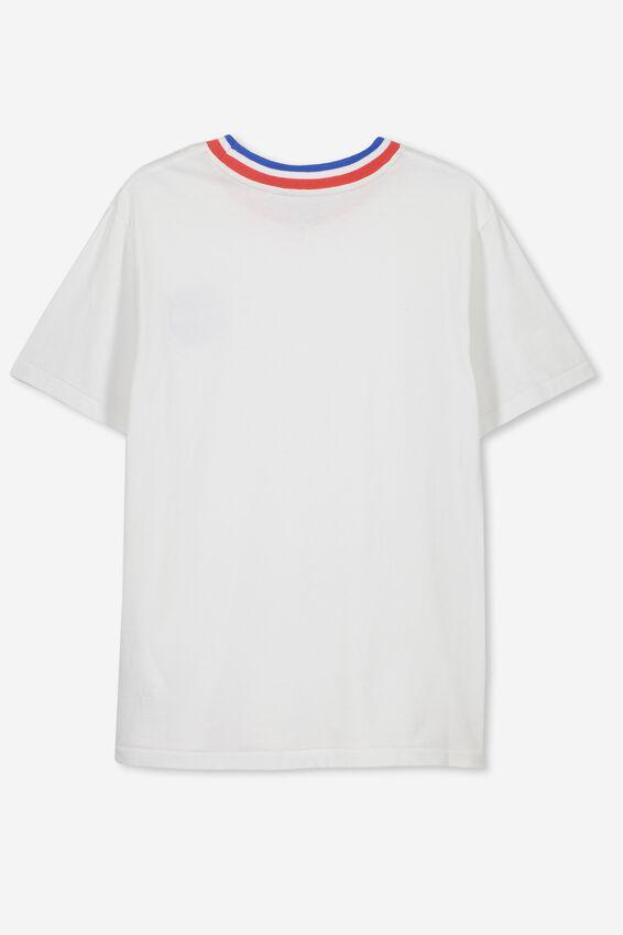 Boys License Short Sleeve Tee, LCN NAS/WHITE WORLD LOGO