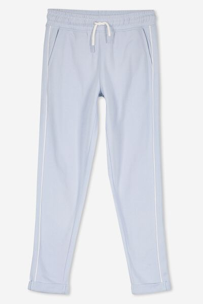 Keeper Girls Track Pant, FAINT BLUE/PIPING