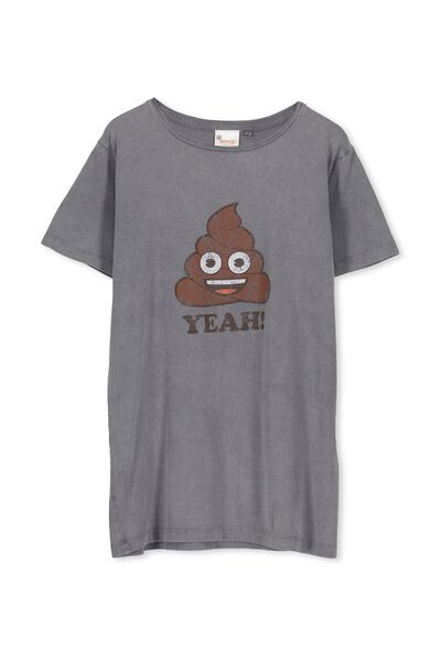 Louis Licence Tee, WASHED GREY/POO YEH