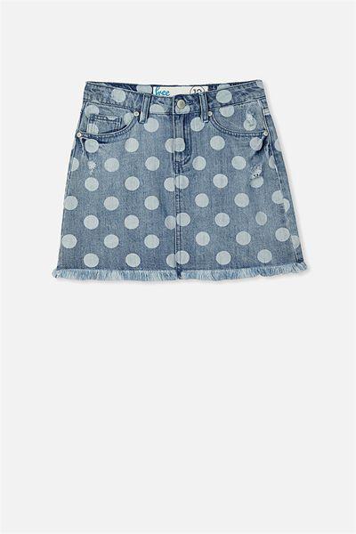 Cara Denim Skirt, VINTAGE INDIGO/SPOT