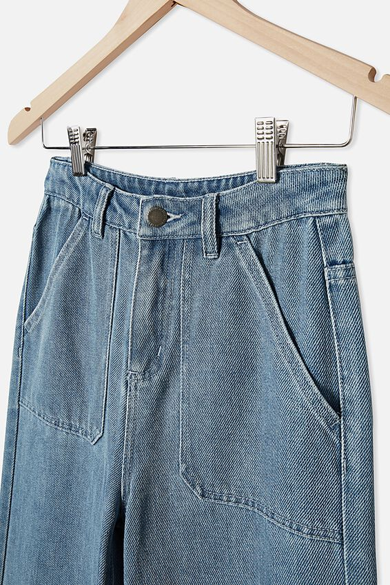 Elka Wide Leg Jean, MID BLUE WASH