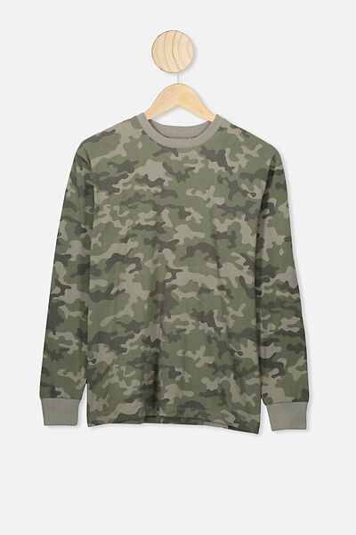 Rufus Long Sleeve Tee, CAMO