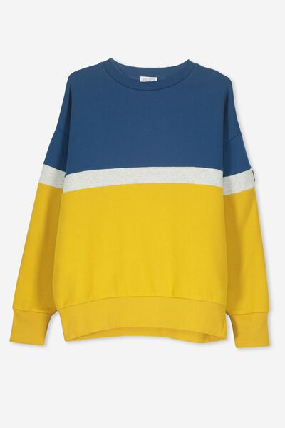 Crew Neck Jumper, SAN FRAN BLUE/GOLD GLOW