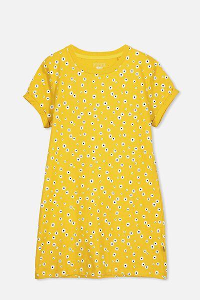 Tshirt Dress, GOLD RUSH/DAISY
