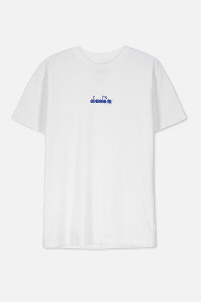 Diadora Short Sleeve Tee, LCN WHITE/DIADORA