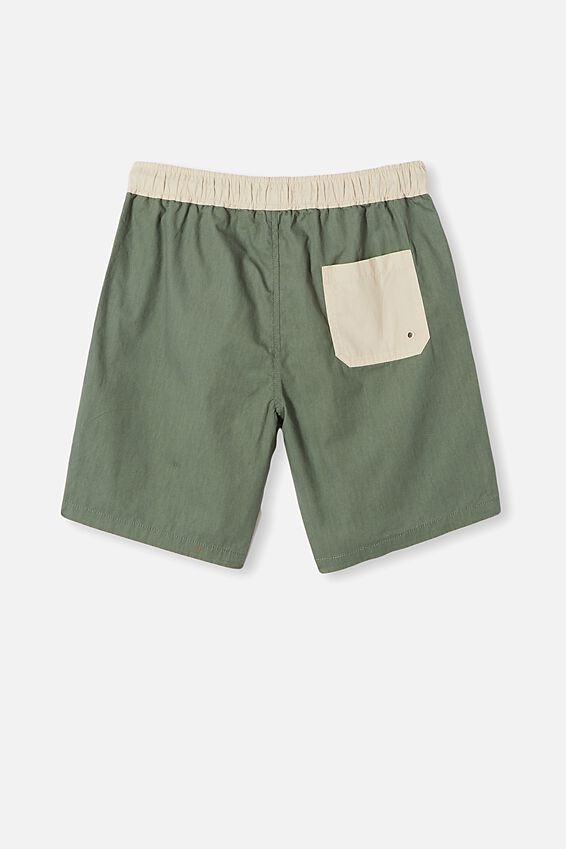 Boys Volly Short, SWAG GREEN/RAINY DAY WB