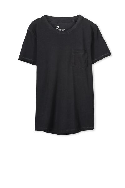 Ollie Ss Tee, WASHED BLACK