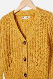 Martha Multi Knit Cardi, HONEY GOLD FLECK