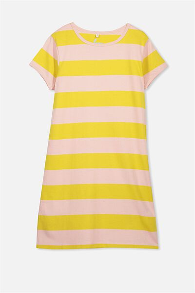 Darci Dress, HONEY MUSTARD/SOFT MUSK STRIPE