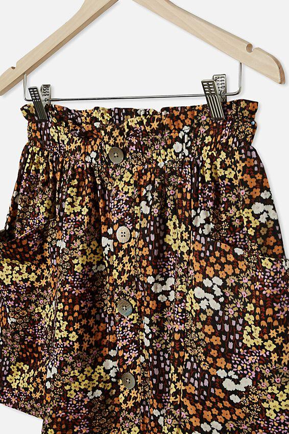 Ava Skirt, PHANTOM/FLORAL FIELDS