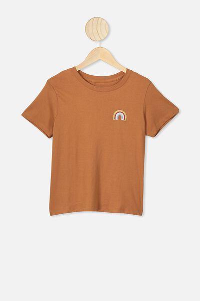 Primrose Classic Tshirt, AMBER BROWN/RAINBOW