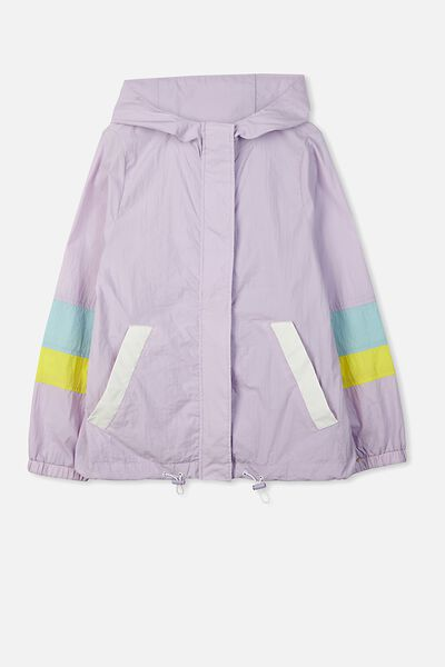 Colour Block Jacket, MISTY VIOLET/COLOUR BLOCK