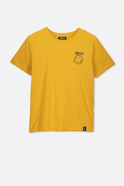 Boys License Short Sleeve Tee, LCN LN GOLD RUSH/NIRVANA