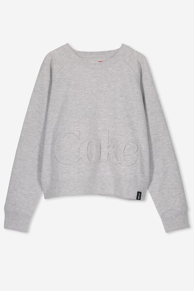Girls License Boxy Crew, LCN CC/SOFT GREY MARLE/COKE