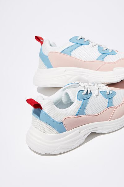Evolution Chunky Trainer, BLUE/WHITE/PINK