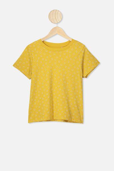 Primrose Classic Tshirt, HONEY GOLD/DAISY