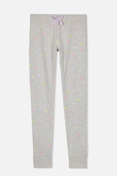 Zoe Sleep Pant, SOFT GREY MARLE/TRIANGLES