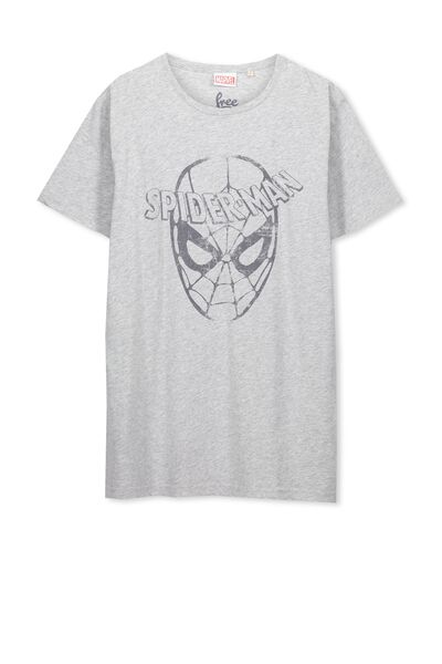 Louis Licence Tee, GREY MARLE/SPIDERMAN FACE