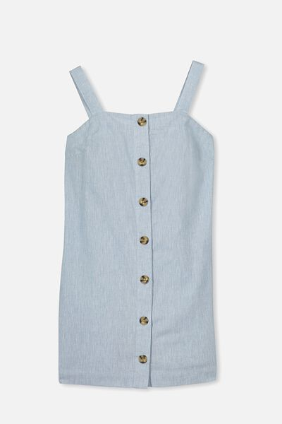 Button Front Dress, CHAMBRAY