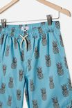 Boys Volly Short, PINEAPPLES/BLUE ICE