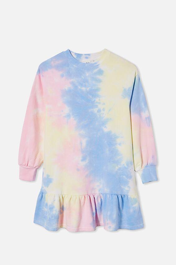 Lani Long Sleeve Dress, RAINBOW TIE DYE