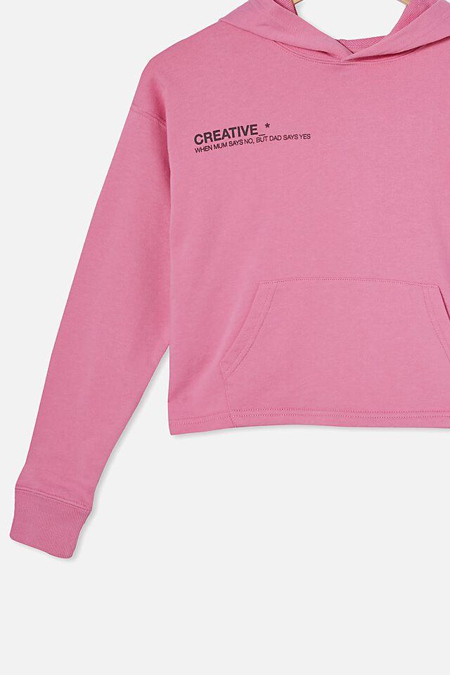 Serena Crop Hoodie, PINK GERBERA/ CREATIVE