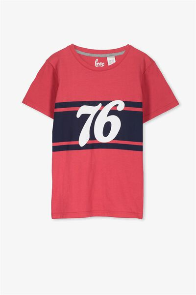 Lachie Ss Sleep Tee, RIVER RED/76