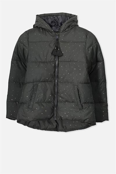 Lola Puffer Jacket, PHANTOM/ROSE GOLD SPOT
