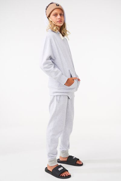 Equal Fleece Hoodie, SOFT GREY MARLE