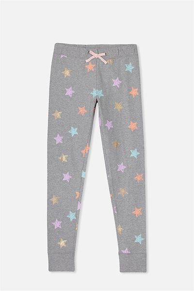 Zoe Sleep Pant, MID GREY MARLE/SCRIBBLE STAR