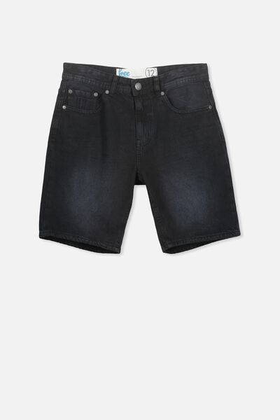 Leon Ii Denim Short, BLACK