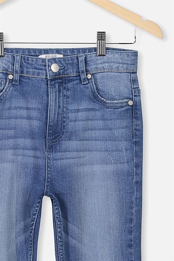 Slim Leg Jean, MID DENIM