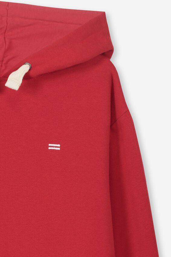 Equal Fleece Hoodie, RACING RED