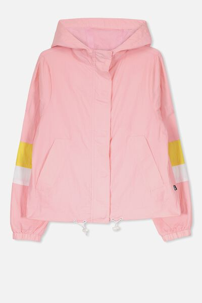 Windbreaker Jacket, MERINGUE/YELLOW